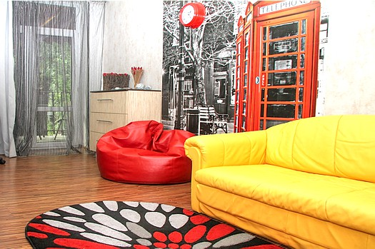 Cozy apartment for rent with view of Chisinau central park: 2 rooms, 1 bedroom, 42 m²