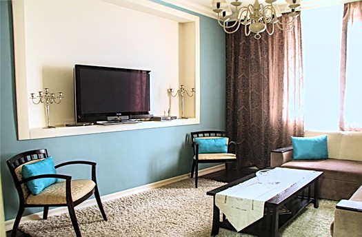 Only for long term rental in Chisinau: 2 rooms, 1 bedroom, 48 m²