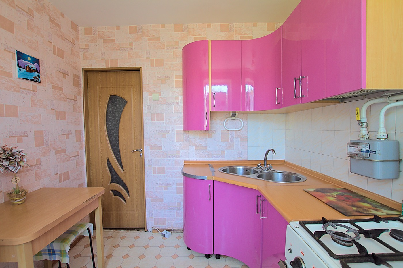 Chisinau, Riscani. Cheap rent near McDonald: 2 rooms, 1 bedroom, 48 m²
